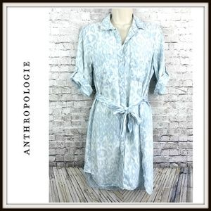 Anthropologie   Cloth & Stone Ikat Chambray Dress